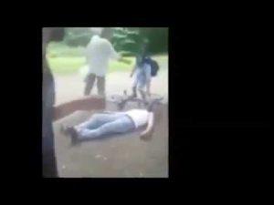 School Boy Karate Kicks Adult in Self-Defence