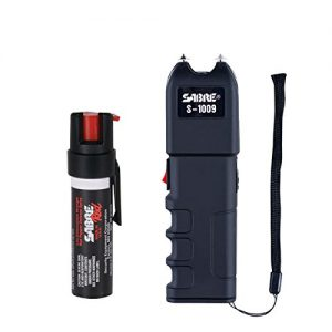 SABRE Pepper Spray & Stun Gun Self-Defense Package— Police Strength SABRE Red Pepper Spray PLUS a SABRE Stun Gun with Anti-Grab Technology & Flashlight