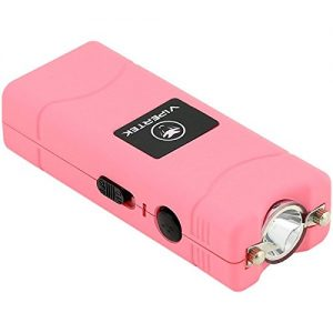 VIPERTEK VTS-881 – 35 Billion Micro Stun Gun – Rechargeable with LED Flashlight, Pink