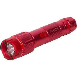VIPERTEK VTS-T03 – Aluminum Series 53 Billion Heavy Duty Stun Gun – Rechargeable with LED Tactical Flashlight, Red