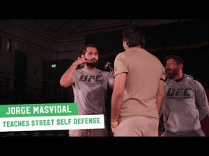 Jorge Masvidal Teaches 'Street Fight Self-Defense Seminar' at UFC London Open Workouts