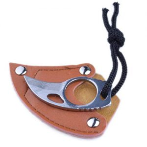 pranovo Steel Finger Claw Knives Hook Fixed Blade Knife Tool for Camping Hunting Outdoor Mountaineering Rock Climbing Equipment Hook Ring (1)