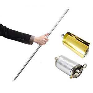 Do co-sport Pocket Professional Magic Wand Telescopic Props for Magician/Martial Arts Stage Performances (Silver)