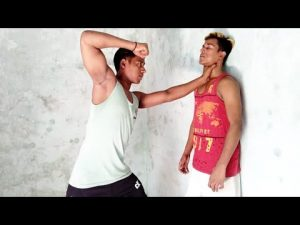 How to self-defense if you stroke through the throat in the wall||Shahabuddin karate 🔥