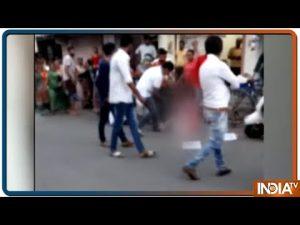 MLA Naroda Balram Thawani kicking woman and says it was self defense