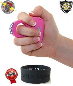 Streetwise Sting Ring 18,000,000 Volts- (PINK & LIGHT WEIGHT)- Concealed Self-Defense Taser for Women- Stun Gun – Comes with Free Inspirational Gift Bracelet