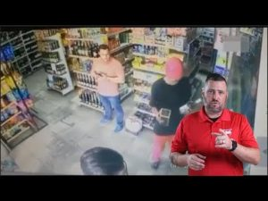 Brazilian Shopkeeper Gets DOWN on Armed Robber