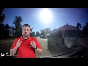 Van Driver Loses His Cool On The Road