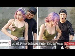 Girl Self Defense Techniques & Safety Hacks for Women | Popkorn TV
