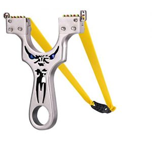 Slingshot,Metal Slingshot Professional Hunting Slingshot with Heavy Duty Launching Bands, High Velocity Catapult (Entry Section)
