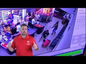 Brazilian Off Duty Fends Off Supermarket Robber