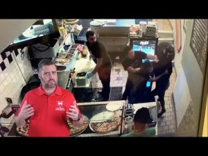 Pizza Store Employees Handle The Threat With Ease
