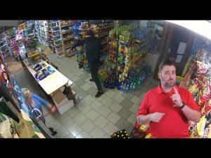 Mop Defense Caught On Camera