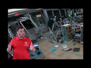 Robbers Drive A Truck Through Storefront Window