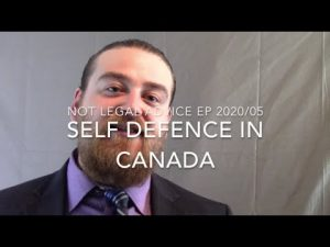 The Right To Self Defense In Canada: Not Legal Advice Ep 2020/05