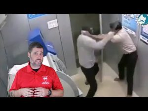 Security Guard Takes Hammer To The Head